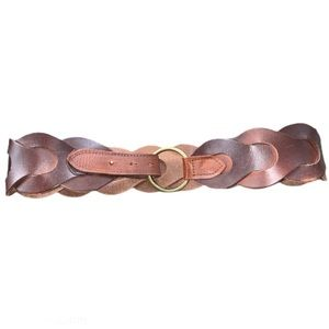 Wide Braided Leather Belt